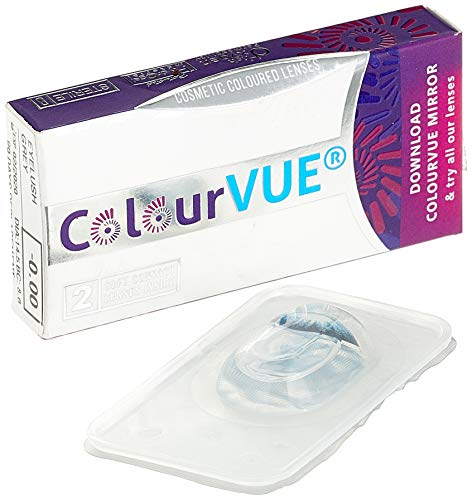 ColourVUE BigEyes Ultra Violet 3 Months Disposable 14 mm Cosmetic Contact Lens
