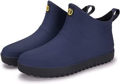 AONEGOLD Chaussures de Pluie pour Hommes Femmes Bottes de Jardinage Imperméable Bottines Caoutchouc Antiderapant Chaussures Basses