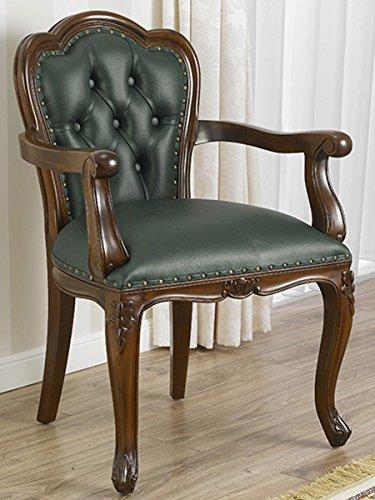 Simone guarracino poltrona sedia con braccioli ministeriale presidenziale legno noce ecopelle verde