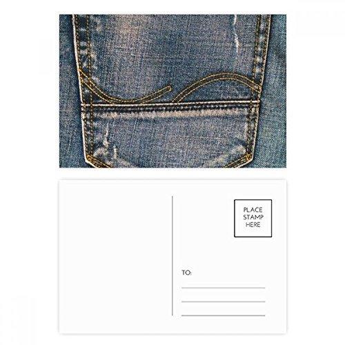 DIYthinker Tasche Denim-Jean-Cowboy Futter Textil Postkartenset Geburtstag dankt Karte Mailing Side 20pcs 5.7 Zoll x 3.8 Zoll Mehrfarbig - Paper Denim Tuch