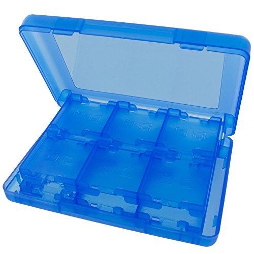 Stylez 28in 1Game Hard Karte Fall Inhaber Cartridge Box für Nintendo DS 3DS XL LL Medium blau (Fall Medium 1)