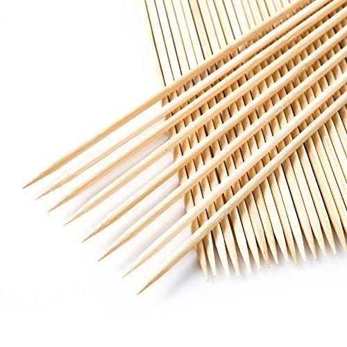 51VhXIL5TQL - Lumanuby 90 x Holz Grillspieße Marinaden Sticks, Einweg-Grill Utensilien Bambus Party Sticks, perfekt für BBQ Fleisch, Steaks vieles mehr (20 cm)