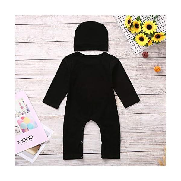 Shenye - Conjunto de Ropa para niños de 0 a 24 Meses, para recién Nacidos, niños y niñas, con Estampado de Hueso de Halloween, Mono y Sombrero, Conjunto de Trajes 5