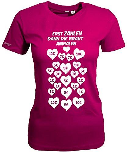 Jayess Erst Zahlen - dann Die Braut ANMALEN - JGA - Sorbet - Women T-Shirt by Gr. M