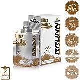 Unived RRUNN Ultra Butter, Portable Energy Peanut Butter & Cashew Butter Squeeze Packs, 4 Servings Pack