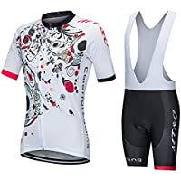 GWJ Para Mujer Jersey De Ciclismo De Media Manga Racing Team Breathable Biking Top + Bikini para Montar Bicicleta,XXXL