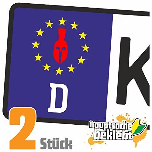 Königshelm Kennzeichen Aufkleber Sticker Nummernschild - IN 15 FARBEN (Griechischen Gladiator)