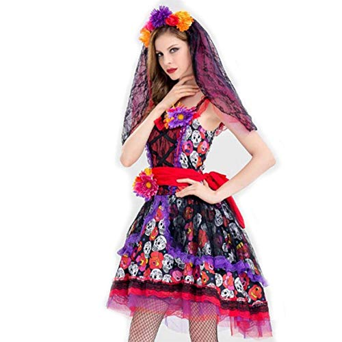 Comic Hexe Kostüm - DUQA Halloween Cosplay Uniform Party Geisterbraut Vampir K?nigin Hexe Kost¨¹m Kost¨¹m Halloween Kost¨¹m