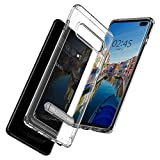 Spigen 606CS25768 Ultra Hybrid S Kompatibel mit Samsung Galaxy S10 Plus Hülle, Transparente Schutzhülle Standfunktion Case Crystal Clear