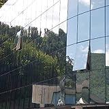 Folien-Gigant :Sonnenschutzfolie Selbstklebend Silber 152 x 300 cm - Spiegelfolie Spiegeleffekt Schutzfolie - 2