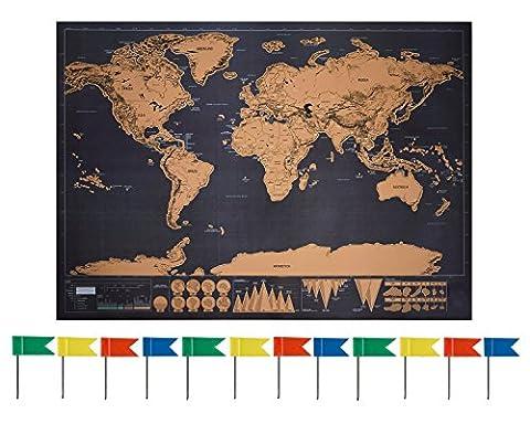 La Maison Et Le Monde - Anokay Carte à Gratter - grand Map
