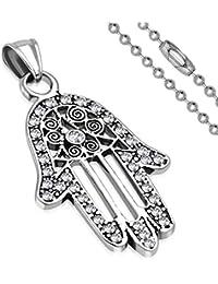 Edelstahl Hamsa Fatimas Hand Anhänger Gold Silber Kette Halskette