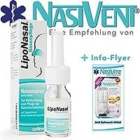 Preisvergleich für LipoNasal Nasenpflege Spray - zur Befeuchtung und Pflege bei trockener und verstopfter Nase - Die optimale Ergänzung...