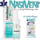 LipoNasal Nasenpflege Spray - zur Befeuchtung und Pflege bei trockener und verstopfter Nase - Die optimale Ergänzung für Ihr Nasivent