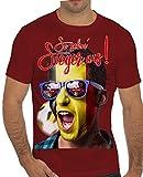 Stylotex Slimfit Fashion T-Shirt So sehn Sieger aus Shout for Belgien Belgium, Farbe:rot;Größe:XL