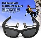YOURAN Gafas Videocámara HD 1080P Gafas de Sol Cámara Auricular Bluetooth Imagen Grabación de Video Micrófono Soporte Tarjeta TF para Ciclismo Entusiasta Deporte al Aire Libre