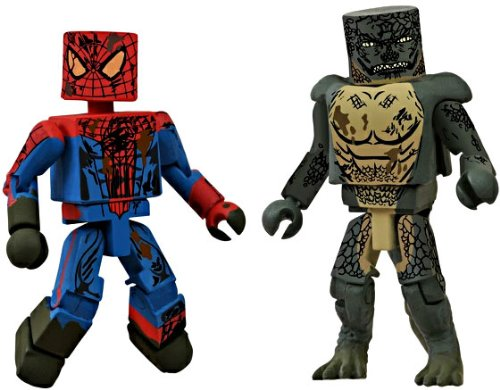 Preisvergleich Produktbild 2012 Comic Con SDCC EX Marvel Minimates Amazing Spider-Man Movie Sewer 2 Pack by Diamond Select