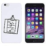Blanc 'Presse-Papiers' étui / housse pour iPhone 6 Plus & 6s Plus (MC00160356)