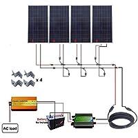 eco-worthy 4x 160W 600W 12V off Grid Solar System W/220V inverter per veicolo casa RV