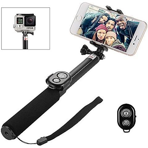 Elekin Selfie Stick Palo Bluetooth Duro y Antideslizante Compatible con GoPro Android y iPhone6/6s/iphone 7/7plus