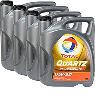 4x MOTORÖL TOTAL QUARTZ 9000 ENERGY 0W-30 5L MB