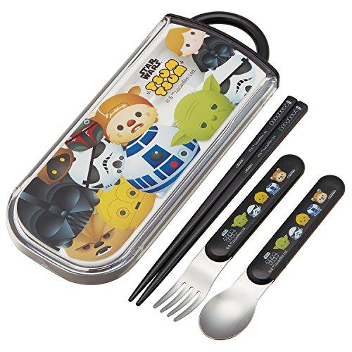 Cuillère Fourchette Lot de baguettes en coulissant Coque pour Lunch Box Bento pique-nique 【 Tsum Tsum Star Wars 】 par Skater Tcs1am