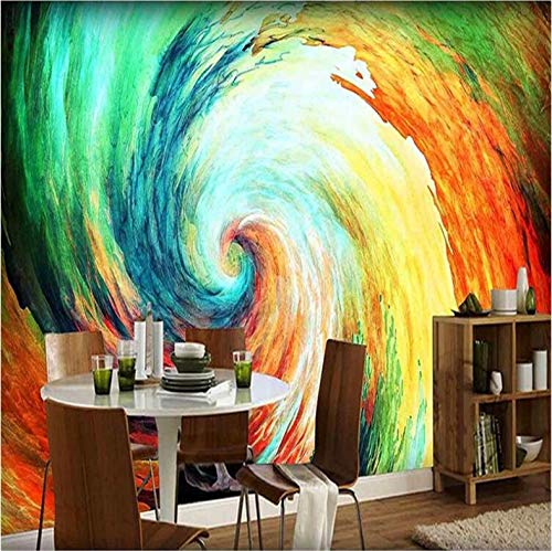 lder Wand Dekorationen Tapete Aufkleber Farbiges Strudelauszugsmuster Hintergrund Wohnzimmer Sofa Hintergrund Kunst Kinderzimmer (W) 140x(H) 100cm ()