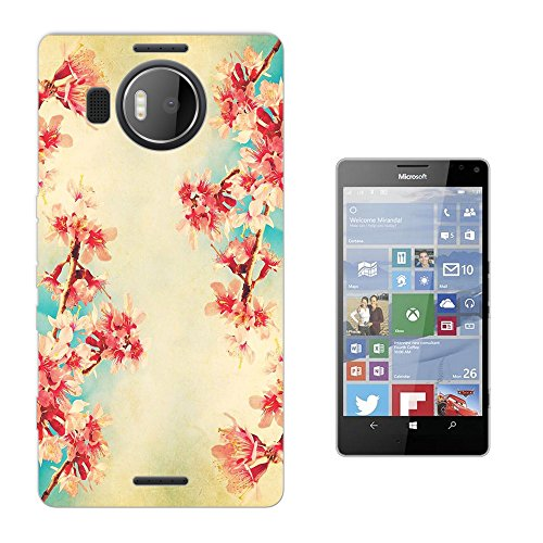002984 - Vintage Shabby Chic Floral Roses flowers Floral Wallpaper Design Microsoft Nokia Lumia 950 XL Fashion Trend Silikon Hülle Schutzhülle Schutzcase Gel Rubber Silicone Hülle