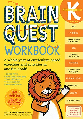 Brain Quest Workbook: Kindergarten [With Stickers] (Kindergarten Math Games)