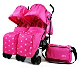 Zeta Twin Pushchair Complete Package (Pink Dots) for sale  Delivered anywhere in UK