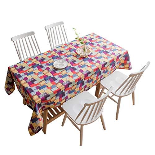 WSGZH Nappe en Polyester De Coton Rectangulaire 90 * 90cm - 140 * 240cm Nappe De Table Dinning Cuisine Partie Décoration (Taille : 110 * 170CM)