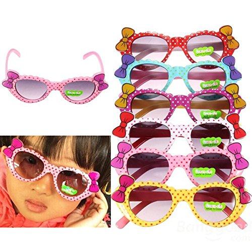 mark8shop Kinder Kids Colorful Schleifen Polka Dots Multi Shades Sunglasses