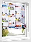 Gardinenbox.eu Raffrollo, Farbe Bund, 1 Stück, Heine Home, Größe: ca. HxB: 130x60 cm, Einfache Montage mit Hakenaufhängung und Ösen, Lieferung Inklusive Zubehör