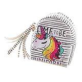 Unicorn Porte-monnaie Dessin animé femmes filles enfants Cuir PU Fermeture Éclair Mini pour portefeuille pièce de monnaie Sac pochette pour carte avec porte-clés