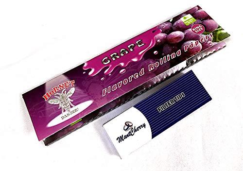 Hornet Zigarettenpapier King Size Duft Geschmack-Trauben-5Notizhefte-Verkauft von Trendz (5) -
