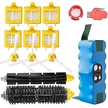 efluky 4.0Ah batería de repuesto para irobot roomba + Kit cepillos repuestos de Accesorios para iRobot Roomba Serie 700 -un conjunto de 14