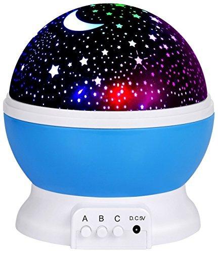 Night Light Lamp, Star LED-Scheinwerfer, Romantik, Nachtlicht, 360 Grad drehbar, 4 LED-Lampen -
