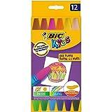 BIC Kids Pastel à l'Huile - Couleurs Assorties, Etui Carton de 12