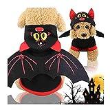 LMNZM, Costume di Halloween per Animali Domestici, Costume da Diavolo, Adatto per Cuccioli e Animali Domestici, Adatto per Tutti i Cani (Nero e Rosso)