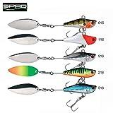 Spro ASP Speed Spin - Spinner zum Spinnfischen, Spinnköder für Barsch, Forelle & Rapfen, Bleikopfspinner, Spinnerjig, Rapfenköder, Farbe:Black / Silver