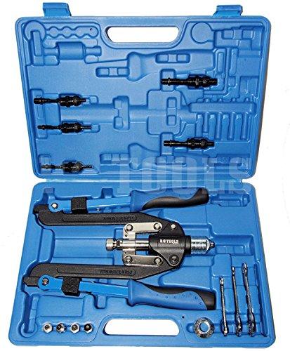 Profi-Nietzangen-Set, 3,2 - 6,4 mm Scheren-Ausführung 50 cm lang 5 Mundstücke 5 Zugdorne für Nietmuttern