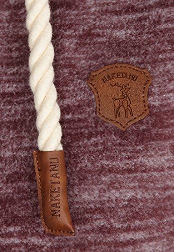 Naketano Female Zipped Jacket Gigi Meroni Aubergini Melange