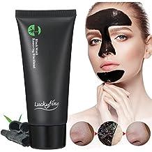 Luckyfine Mascarilla Carbon Activo, Mascarilla exfoliante limpiadora para Puntos Negros y Acné, Black mask peel off, Mascara limpieza facial profunda