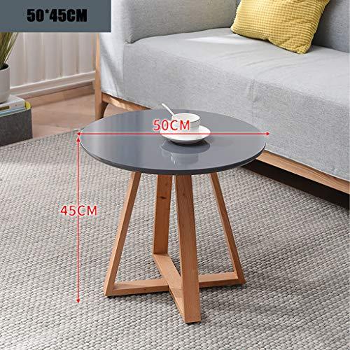 Beistelltisch, einfaches kleines Schlafzimmer modernes Zuhause kleinen Couchtisch, kreativen zufälligen kleinen Tisch aus Hartholz (Farbe : A, größe : 50 * 45CM) - Schlafzimmer Modernen Beistelltisch