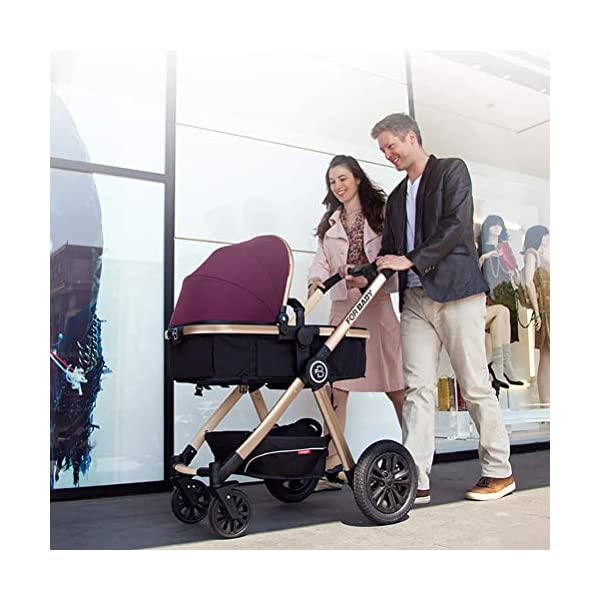 ZXYSR Modular Stroller, Baby Stroller, Converts To Double Stroller, 3 Modes, Durable Construction, Extra-Large Storage Basket, Compact Folding Design, 55-Lb Capacity, Gray ZXYSR ★ MULTI POSITION RECLINING SEAT- Keep your little one comfortable and safe at all times with the 3 position recline and easily adjust for baby's comfort; large storage basket and seatback pockets provide space for baby's extras; seat holds children up to 40 pounds each and includes a 5 point stroller harness. ★FOR TRAVEL AND EVERYDAY TRAVEL STROLLER- Whether you're traveling or just on the go running everyday errands, having a lightweight, compact stroller is a must! With this one easy to use stroller, you'll have both an everyday and travel stroller option. ★LIGHTWEIGHT - A lightweight stroller makes any outing a little easier! Convenience Stroller has a durable aluminum frame that Leather fabric and has a large seat area, plus anti-shock front wheels and lockable rear wheels. 6