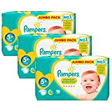 Couches Pampers - Taille 5+ new baby premium protection - 135 couches bébé