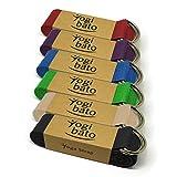 Yogibato Yoga-Gurt | 240 x 3,8 cm | 100% Baumwolle - Stabile Metallringe zur flexiblen Größenverstellung - Yoga-Band - (Violett)