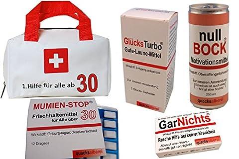 Erste Hilfe Tasche zum 30. Geburtstag (5-teilig)