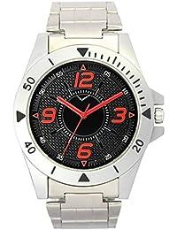 Fashion Now Waterproof Black Dial Silver Metal Strap Office Wear Men Watch - Men Analog Watch - (VS-0002)
