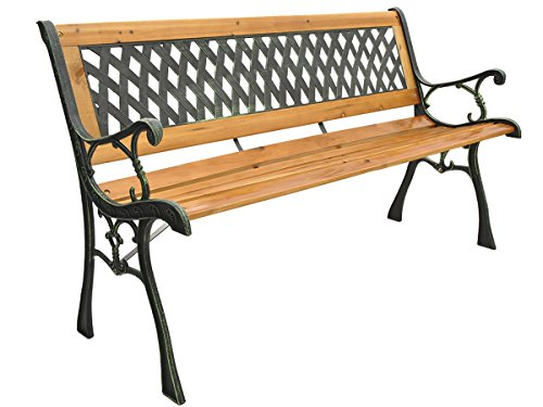 MALATEC Gartenbank Holzbank 2-3 Sitzer Belastung 130kg 126cm Massiv Holz #3390